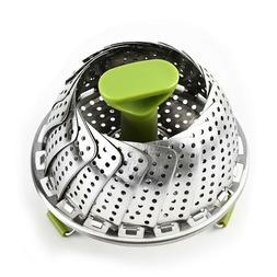 Stainless Steel Vegetable Steamers For Cooking Basket Foldin