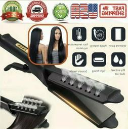 steam hair straightener ceramic tourmaline ionic flat