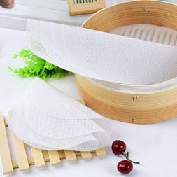 Steamer Dim Sum Silicone Mat Kitchen Non-stick Under Bamboo