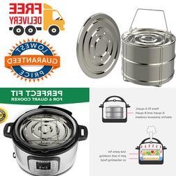 Steamer Pans compatible 6qt Instant Pot 2 Tier Pressure Cook