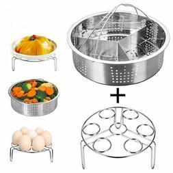 Steamer Pot Set Kitchen Tool Revere Ware Pan Basket Vegetabl
