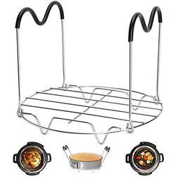 Steamer Rack Trivet Heat Resistant Handles Instant Pot Acces