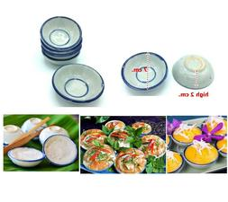 Thai Traditional Dessert Steamer ceramic bowl Cup For Desser