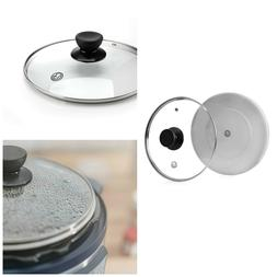 Timpered Glass Lid Steam Vent Silicone Cover Kitchen Instant