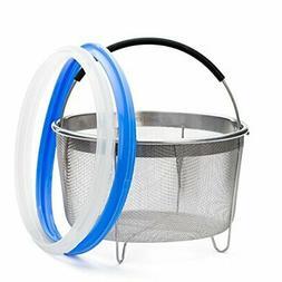 Zoari's Kitchen Steamer Basket 6 Quart for Instant Pot Seali